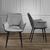 Stuhl Valentine - Dunkelgrau/Schwarz, MODERN, Holz/Textil (66/92/47cm) - Bessagi Home