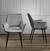 Stuhl Valentine - Dunkelgrau/Schwarz, MODERN, Holz/Textil (66/92/47cm) - Mömax modern living