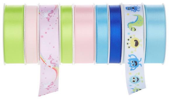 Geschenkband Fantasy in versch. Farben - Blau/Pink, Textil (8,5/8,5/2,6cm) - MÖMAX modern living