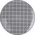 Farfurie Întinsă Shiva - alb/negru, Lifestyle, ceramică (26/2,5cm) - Modern Living