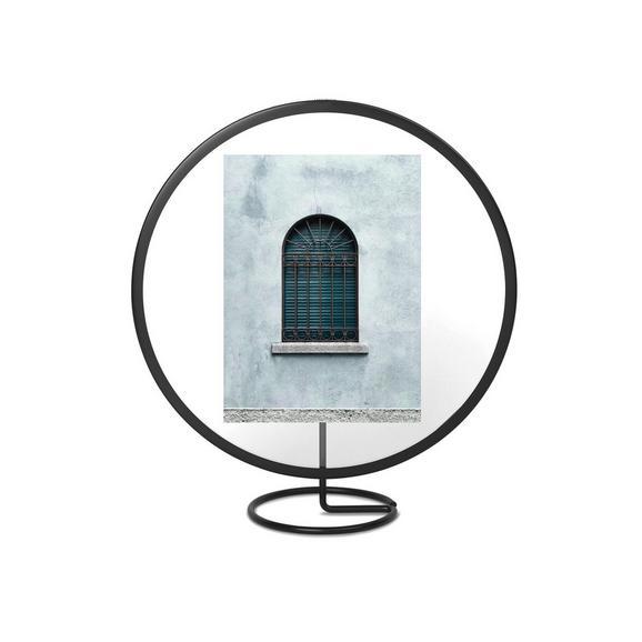 Bilderrahmen Orbit aus Metall in Schwarz - Schwarz, Glas/Metall (25,25/9,98/28,19cm) - Mömax modern living