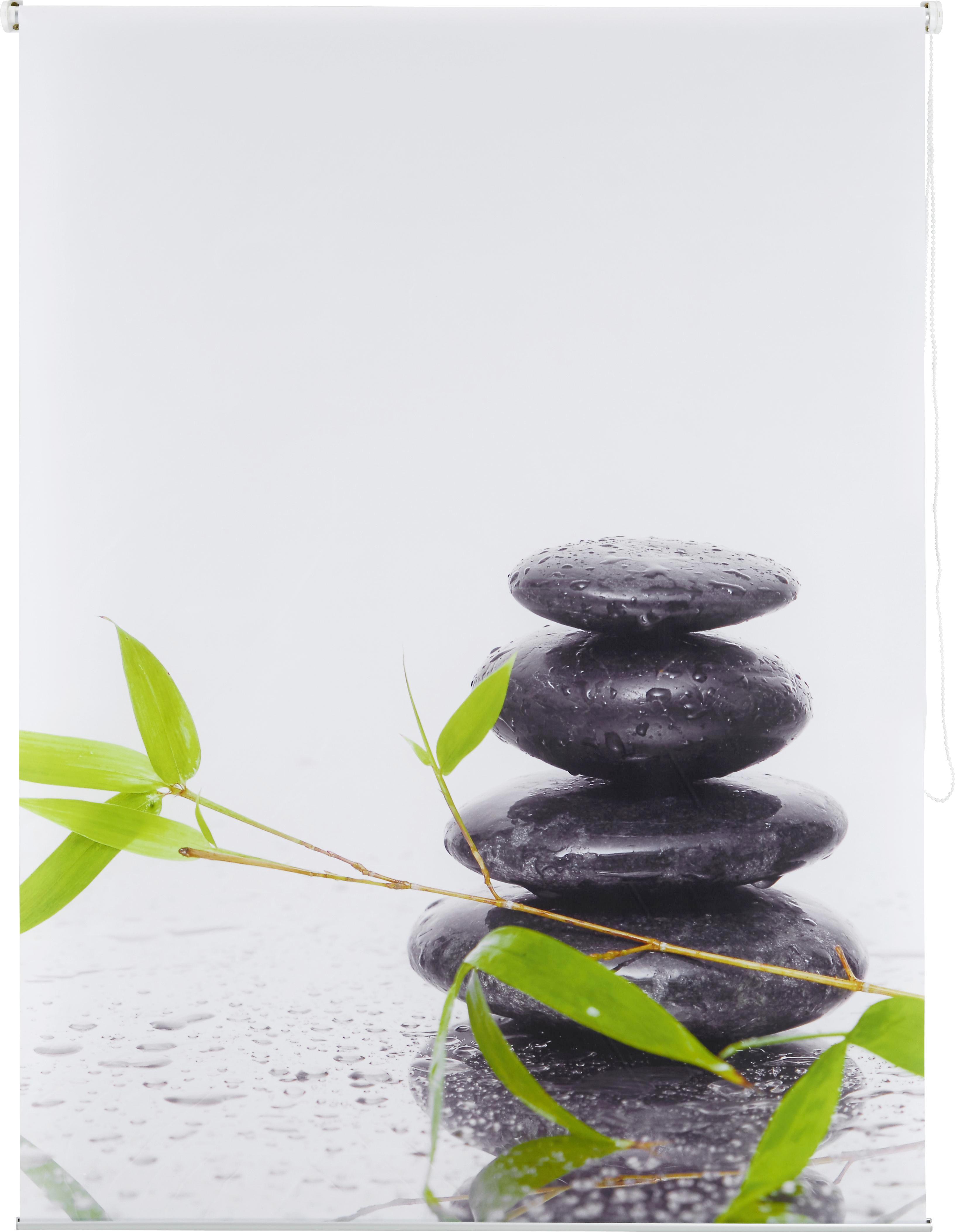 Roló Fotoprint - fehér/zöld, Lifestyle, textil (100/170cm) - MÖMAX modern living