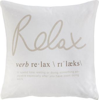 Zierkissen Relax 01, ca. 45x45cm - Weiß, ROMANTIK / LANDHAUS, Textil (45/45cm) - MÖMAX modern living