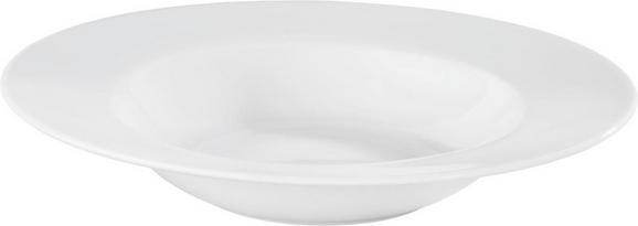 Suppenteller Adria in Weiß - Weiß, KONVENTIONELL, Keramik (21,5cm) - Mömax modern living