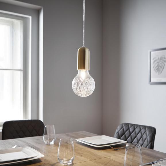 Pendelleuchte Gian - Goldfarben, MODERN, Glas (9/100cm) - Modern Living