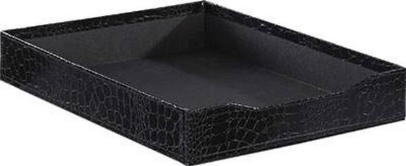 Irattartó Krokodilbőr Hatás - fekete, Lifestyle, karton (23,8/5/31,5cm) - MÖMAX modern living