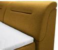 Boxspringbett Currygelb ca.160x200cm - Currygelb/Schwarz, Kunststoff/Textil (160/200cm) - Premium Living