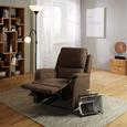Relaxsessel in Braun mit Relaxfunktion - Braun, KONVENTIONELL, Kunststoff/Textil (80-78/101-80/90-159cm) - Modern Living