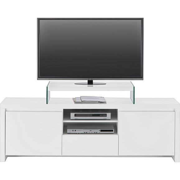 Lowboard Weiß Hochglanz - Weiß, MODERN, Holzwerkstoff (164/53,4/40cm) - Mömax modern living