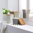 Tárolódoboz Solveig-s - Natúr/Fehér, modern, Faalapú anyag/Természetes anyagok (11,6/11,6/9,6cm) - Premium Living