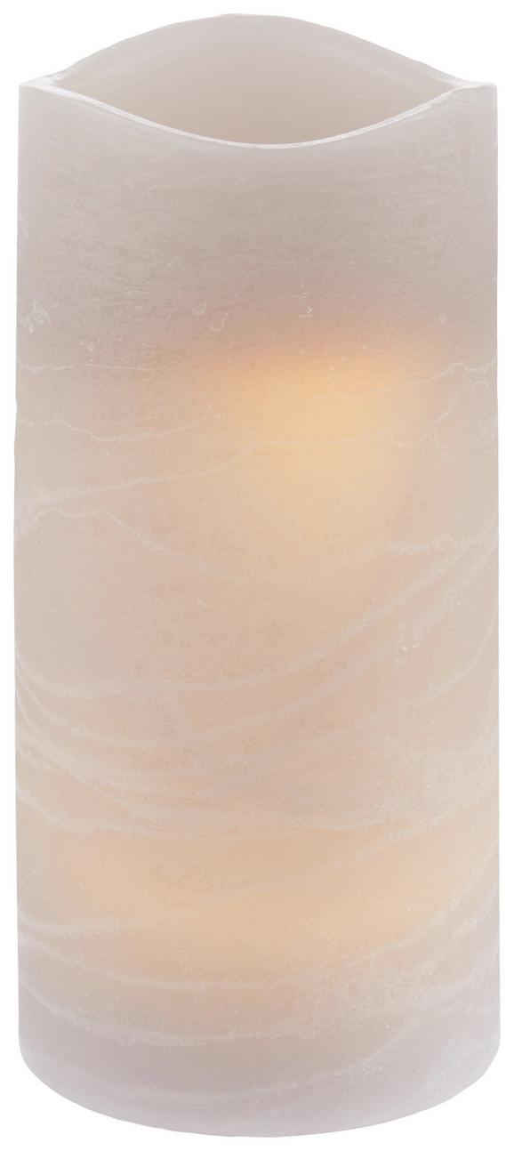 Sveča Z Led-diodo Leonie - sivo rjava, umetna masa (7,5/14cm) - Mömax modern living