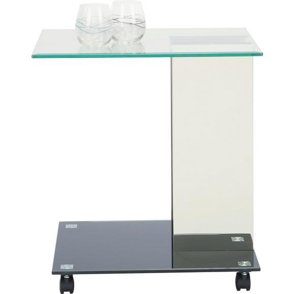 beistelltisch in schwarz aus metall und glas online kaufen. Black Bedroom Furniture Sets. Home Design Ideas