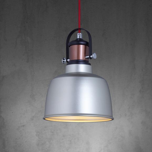Hängeleuchte Franka - Silberfarben, MODERN, Kunststoff/Metall (22/130cm) - MÖMAX modern living