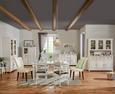 Kredenz Weiß Massiv - Weiß, ROMANTIK / LANDHAUS, Glas/Holz (150/200/45cm) - Zandiara