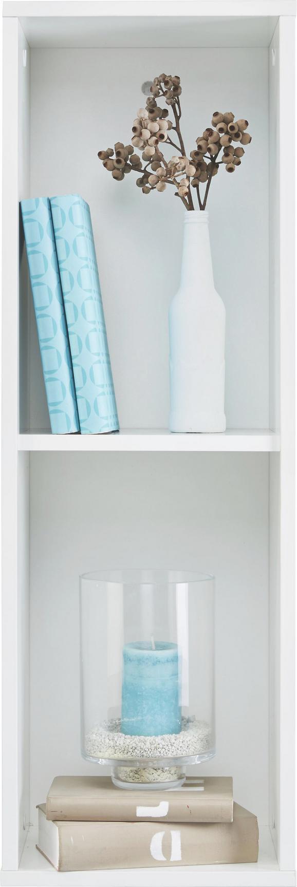 Wandregal in Weiß Hochglanz - Weiß, MODERN, Holzwerkstoff (90/30/26cm) - Mömax modern living