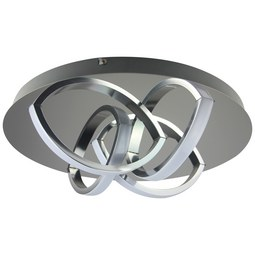 LED-Deckenleuchte Chuck, max. 16 Watt - Chromfarben, MODERN, Kunststoff/Metall (35cm) - Modern Living