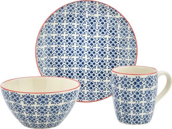 Frühstücksset Mosaico 3-teilig - Blau, Keramik - Mömax modern living