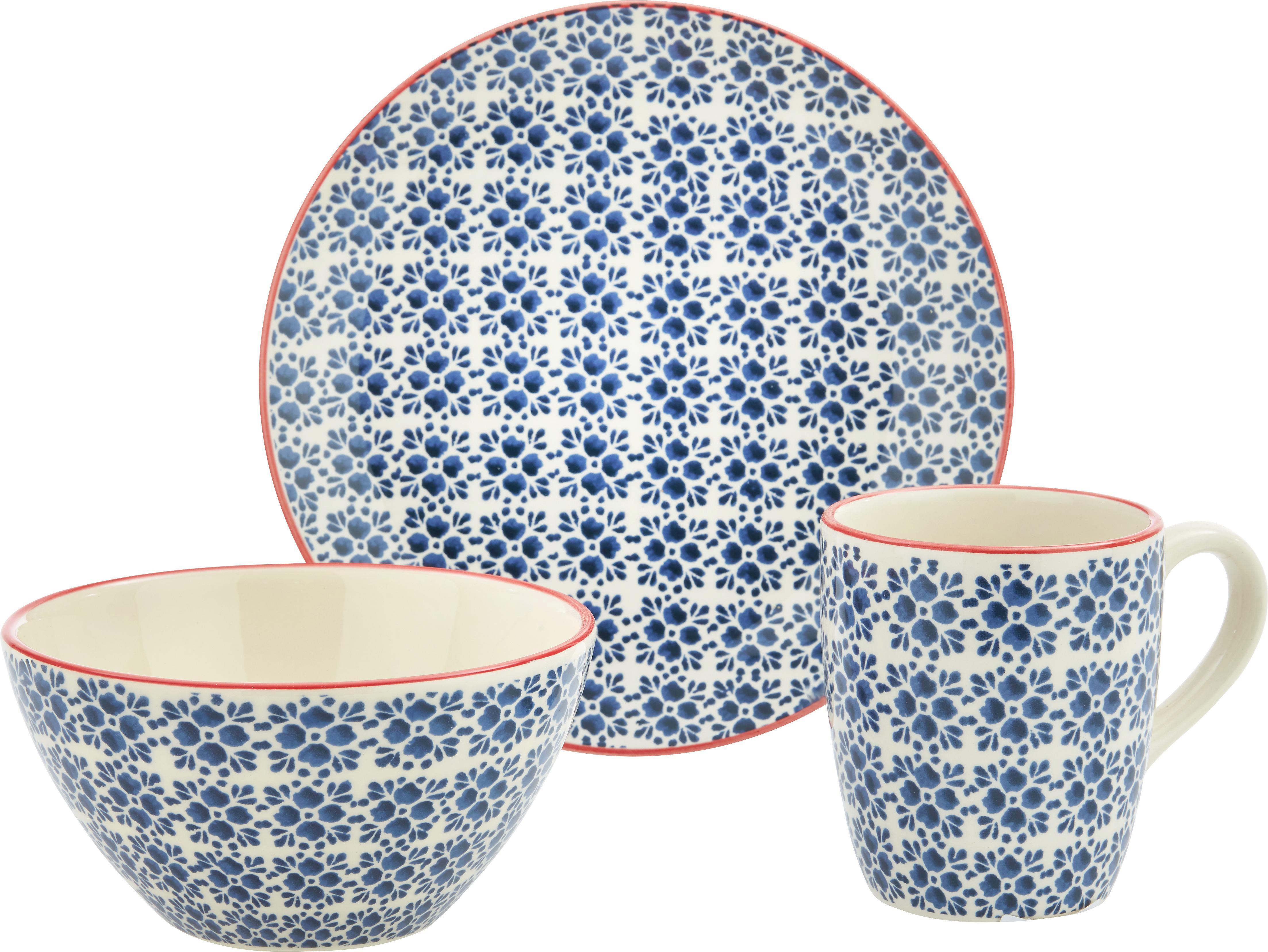 Frühstücksset Mosaico - Blau, Keramik - MÖMAX modern living