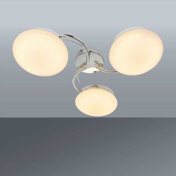 LED-Deckenleuchte Leya max. 7,2 Watt - Chromfarben/Weiß, ROMANTIK / LANDHAUS, Kunststoff/Metall (50/13cm) - Mömax modern living