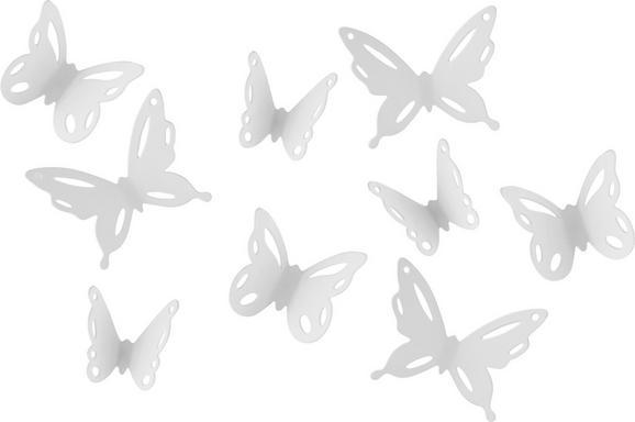 Wanddeko Butterfly II in Weiß - Weiß, ROMANTIK / LANDHAUS, Kunststoff - Mömax modern living