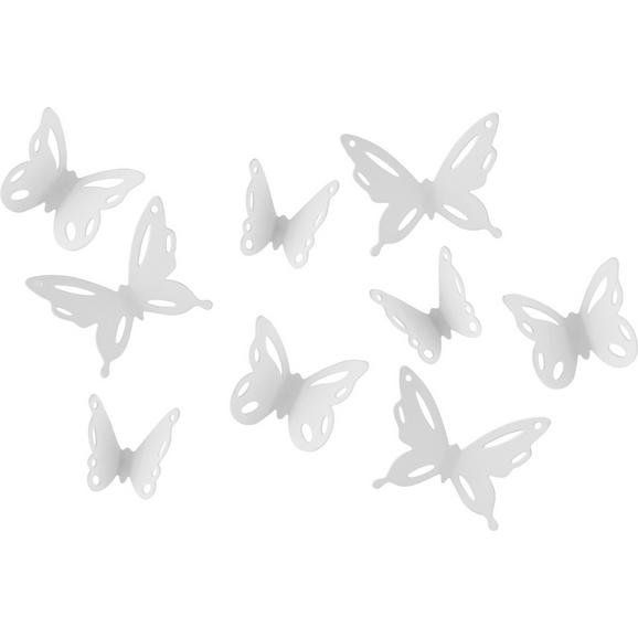 Wanddeko Butterfly II Weiß - Weiß, ROMANTIK / LANDHAUS, Kunststoff - Mömax modern living