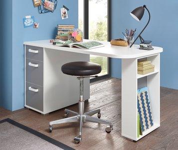Schreibtisch Grau Weiß 2021