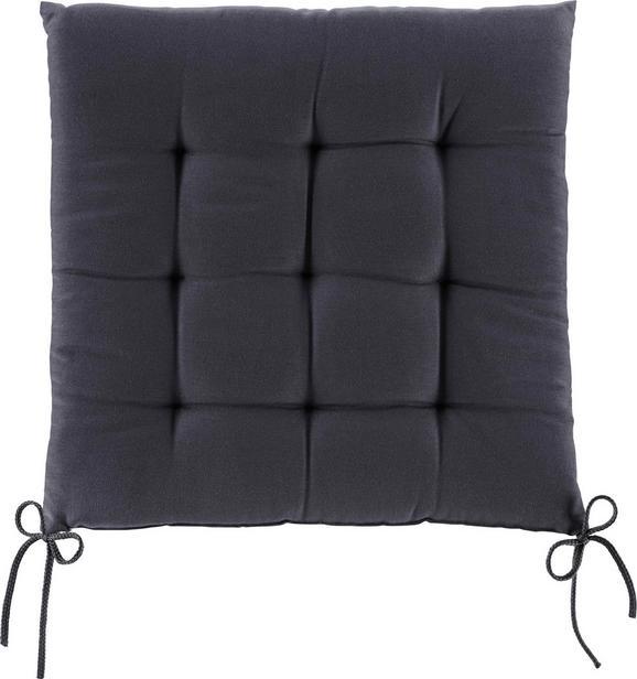Ülőpárna Anita - Sötétszürke, Textil (40/40/4cm) - Mömax modern living