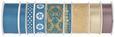 Geschenkband Sam Verschiedene Farben - Türkis/Goldfarben, KONVENTIONELL, Textil (8,5/8,5/2,6cm)