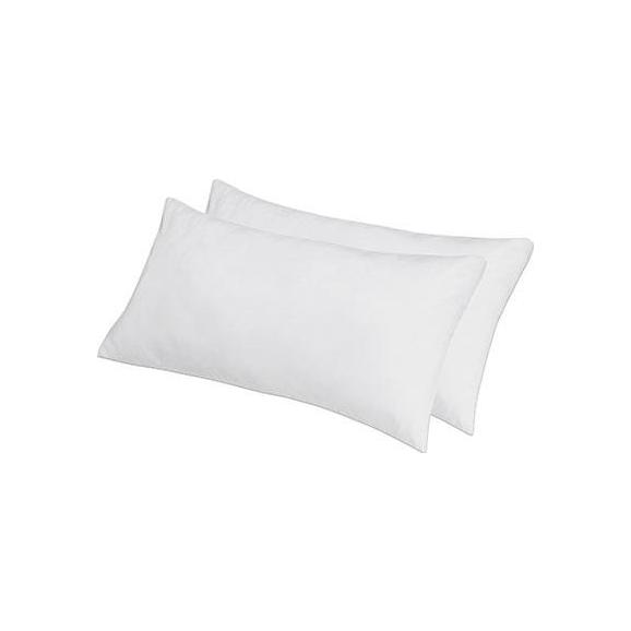 Kopfkissen Lotti ca. 40x80cm, 2 Stk. - Weiß, Textil (40/80cm) - Nadana