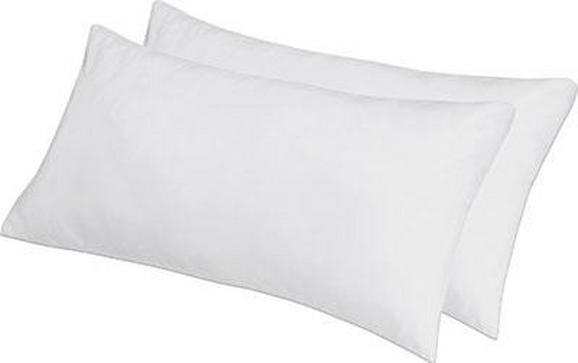 Kopfpolster Lotti ca. 40x80cm, 2 Stk. - Weiß, Textil (40/80cm) - Nadana