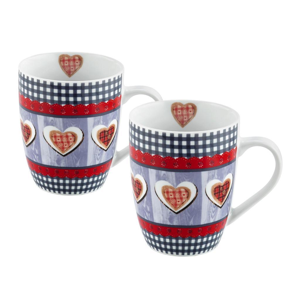 """Kaffeebecher aus Keramik 2-teilig """"Heidi"""""""