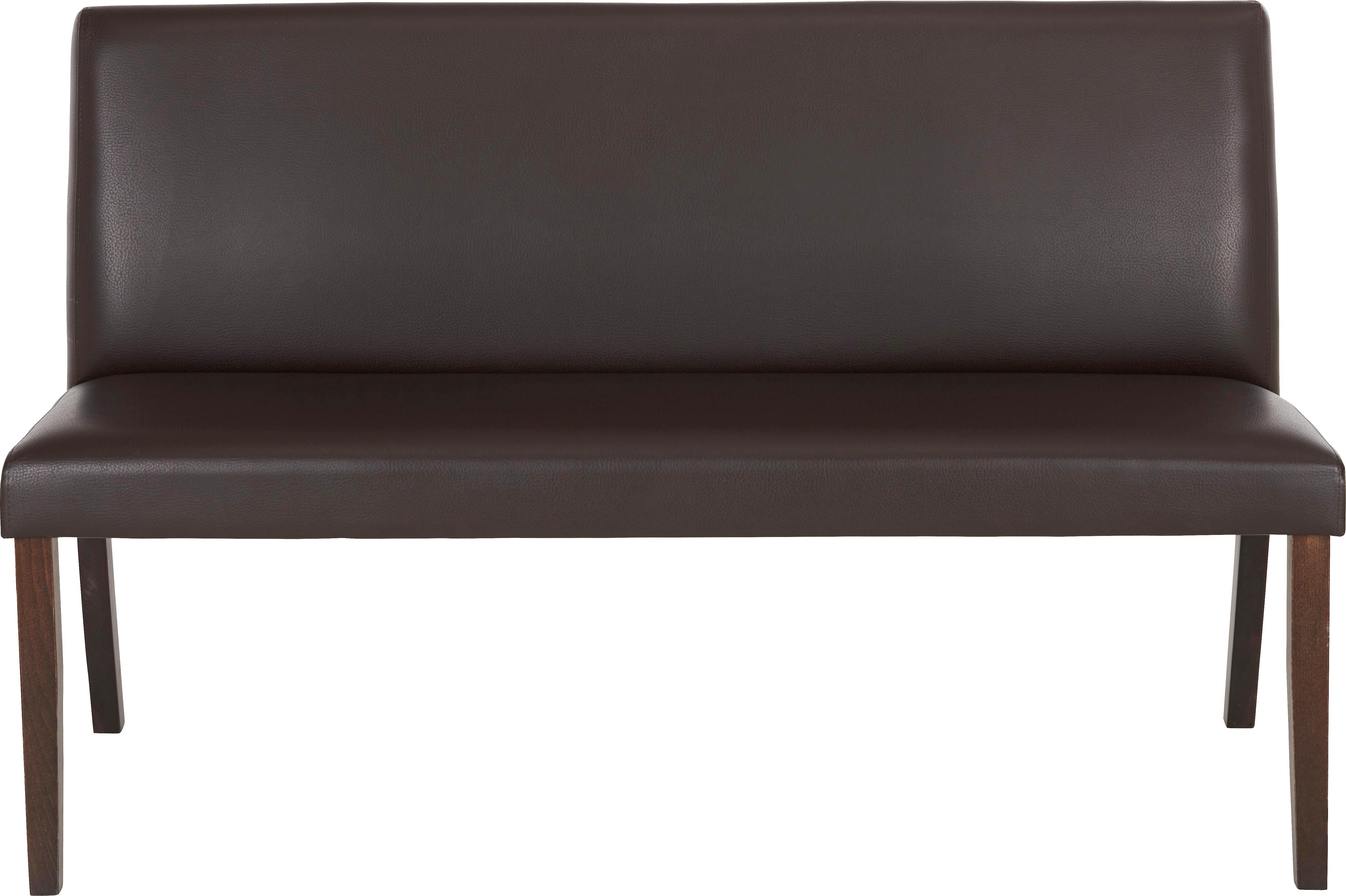 Sitzbank in Braun mit Rückenlehne - Wengefarben/Braun, KONVENTIONELL, Holz/Kunststoff (142/87/65cm) - ZANDIARA