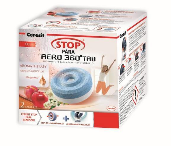 Páramentesítő Utántöltő Ceresit Stop Pára Aero 360 - kék/fehér, további természetes anyagok (9/9/4cm)