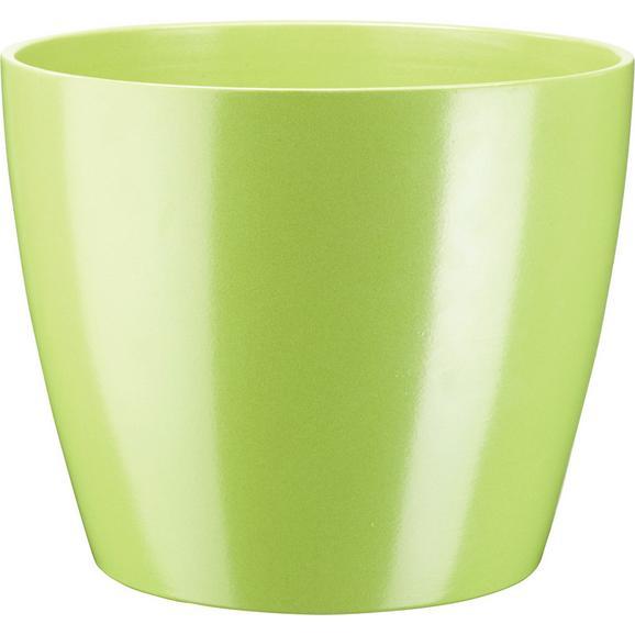 Cvetlični Lonček Luisa - siva/zelena, Moderno, keramika (31/25cm) - Mömax modern living