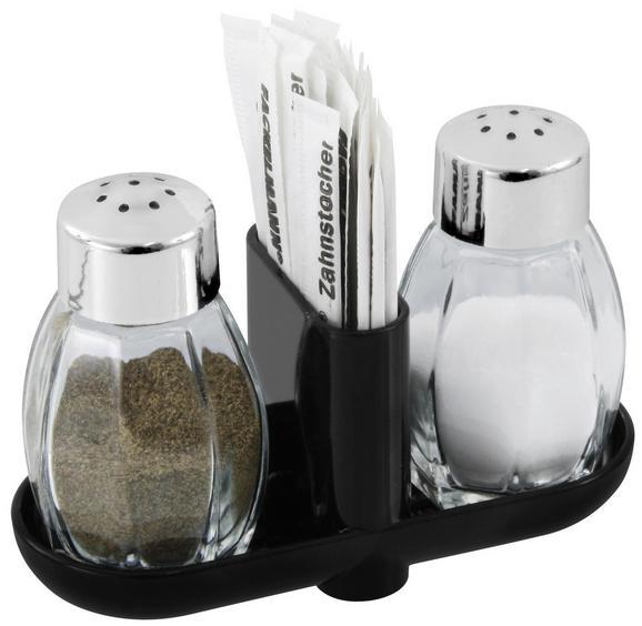 Salz- und Pfefferstreuer Salz & Pfeffer - Silbereichenfarben, KONVENTIONELL, Glas/Kunststoff (8cm) - Fackelmann