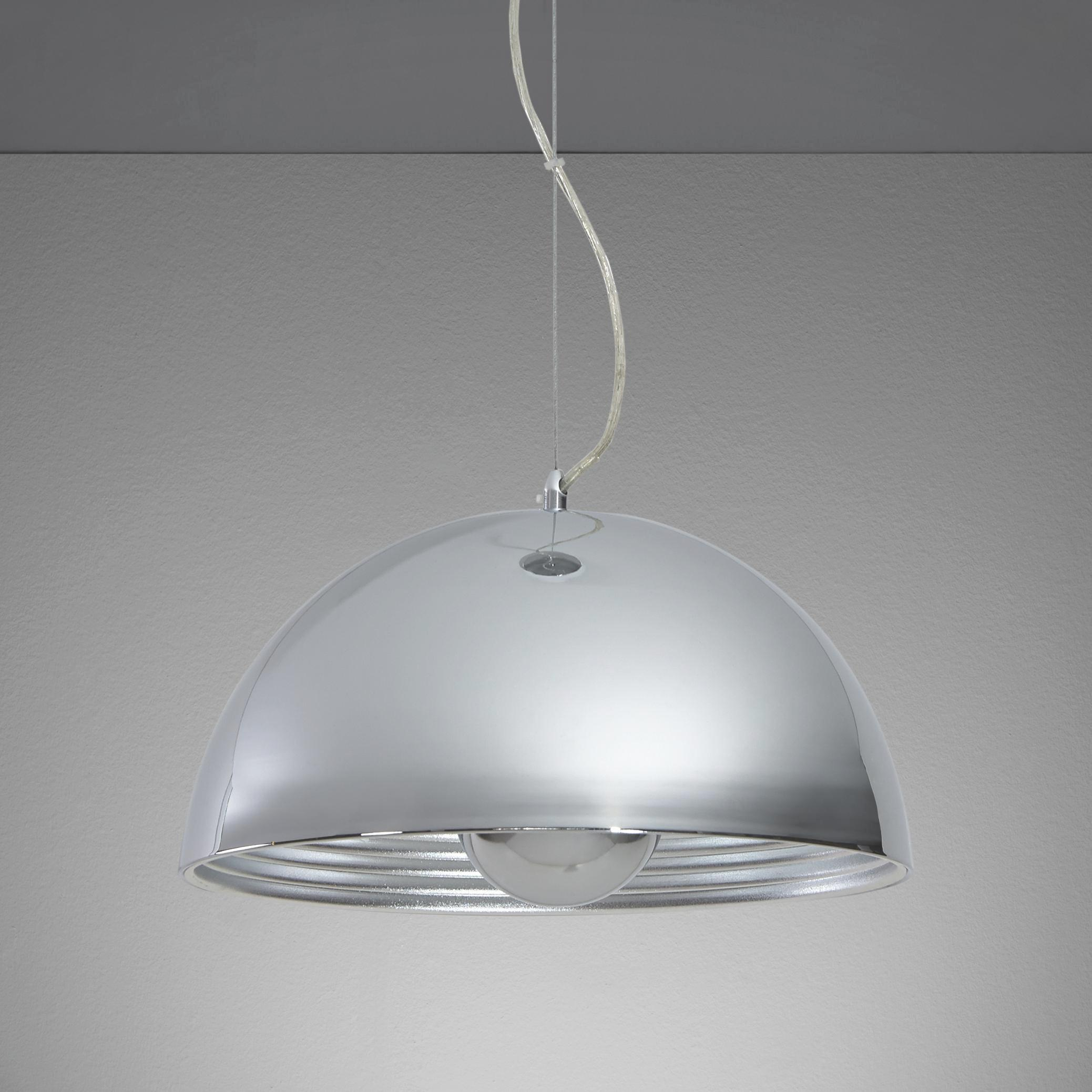 Hängeleuchte Isa - Chromfarben/Silberfarben, MODERN, Metall (40/40/130cm) - MÖMAX modern living