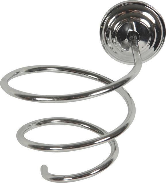 Držalo Za Sušilec Za Lase Salerno - srebrna, Konvencionalno, kovina (15,5/14/14cm) - Mömax modern living