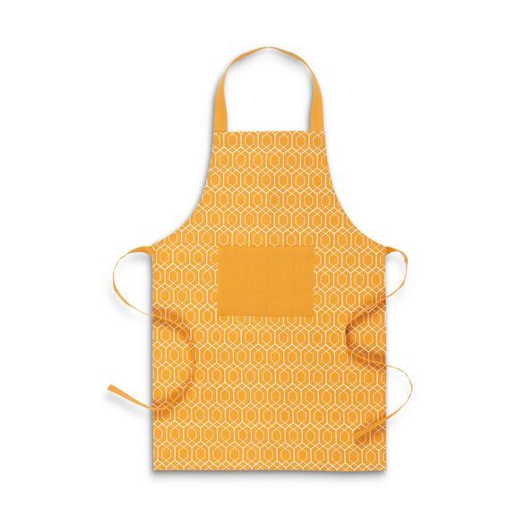 Schürze Honeycomb Gelb/Weiß - Gelb/Weiß, LIFESTYLE, Textil (60/90cm) - Mömax modern living