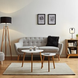 Sofa Anela 2,5 Sitzer - Grau, MODERN, Holz/Textil (168/84/79cm) - Mömax modern living