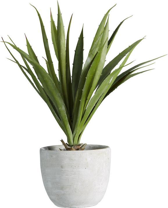 Kunstpflanze Agave in Grün - Grün, KONVENTIONELL, Kunststoff (38 cmcm) - Mömax modern living