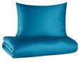 Ágyneműhuzat-garnitúra Belinda - Olajkék/Türkiz, Textil (140/200cm) - Premium Living