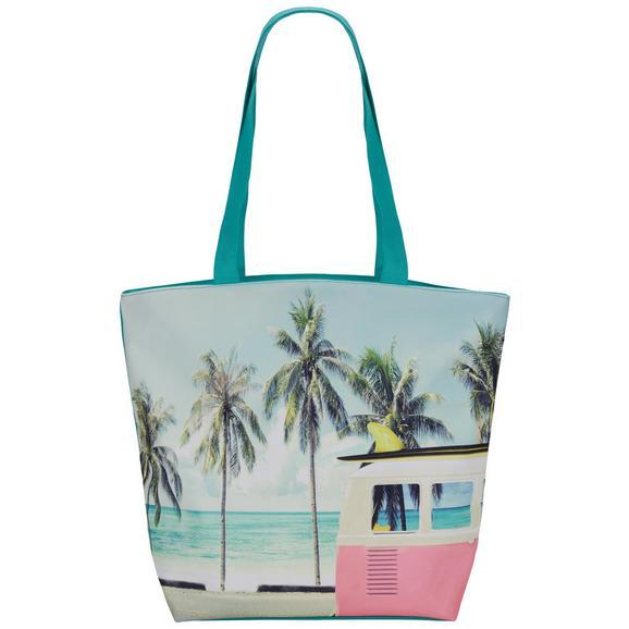 Strandtasche Miami Vibes in Bunt - Multicolor, LIFESTYLE, Textil (32/49/41/15cm) - Mömax modern living