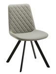 Stuhl Rieke - Hellgrau/Schwarz, MODERN, Textil/Metall (48/83,5/44cm) - Modern Living
