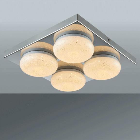 Stropna Led-svetilka Pete - krom, Romantika, kovina/umetna masa (28/6,5cm) - Mömax modern living