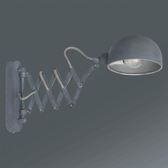 Wandleuchte Matti in Grau, max. 40 Watt - Grau, LIFESTYLE, Metall (57/5/23cm) - Mömax modern living