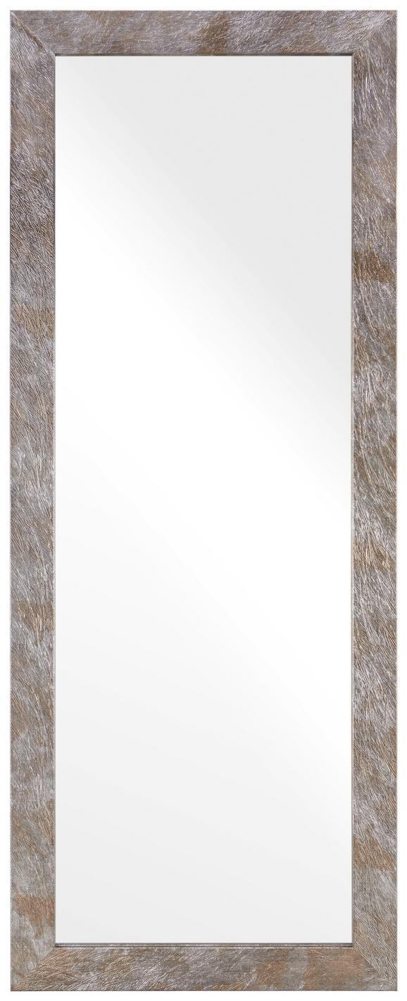 Wandspiegel in Braun/Silber - Silberfarben/Braun, MODERN, Glas/Holzwerkstoff (70/180cm)