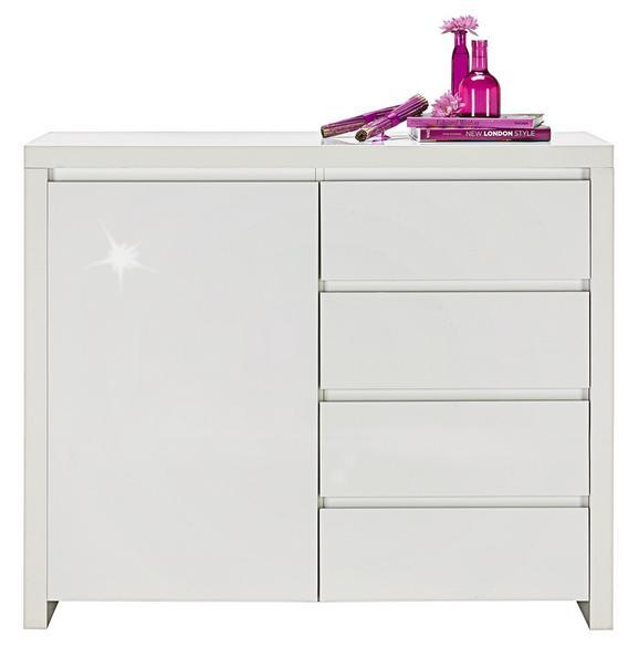 Kommode Weiß Hochglanz - Weiß, MODERN, Holzwerkstoff (112,4/96,4/40cm) - Mömax modern living