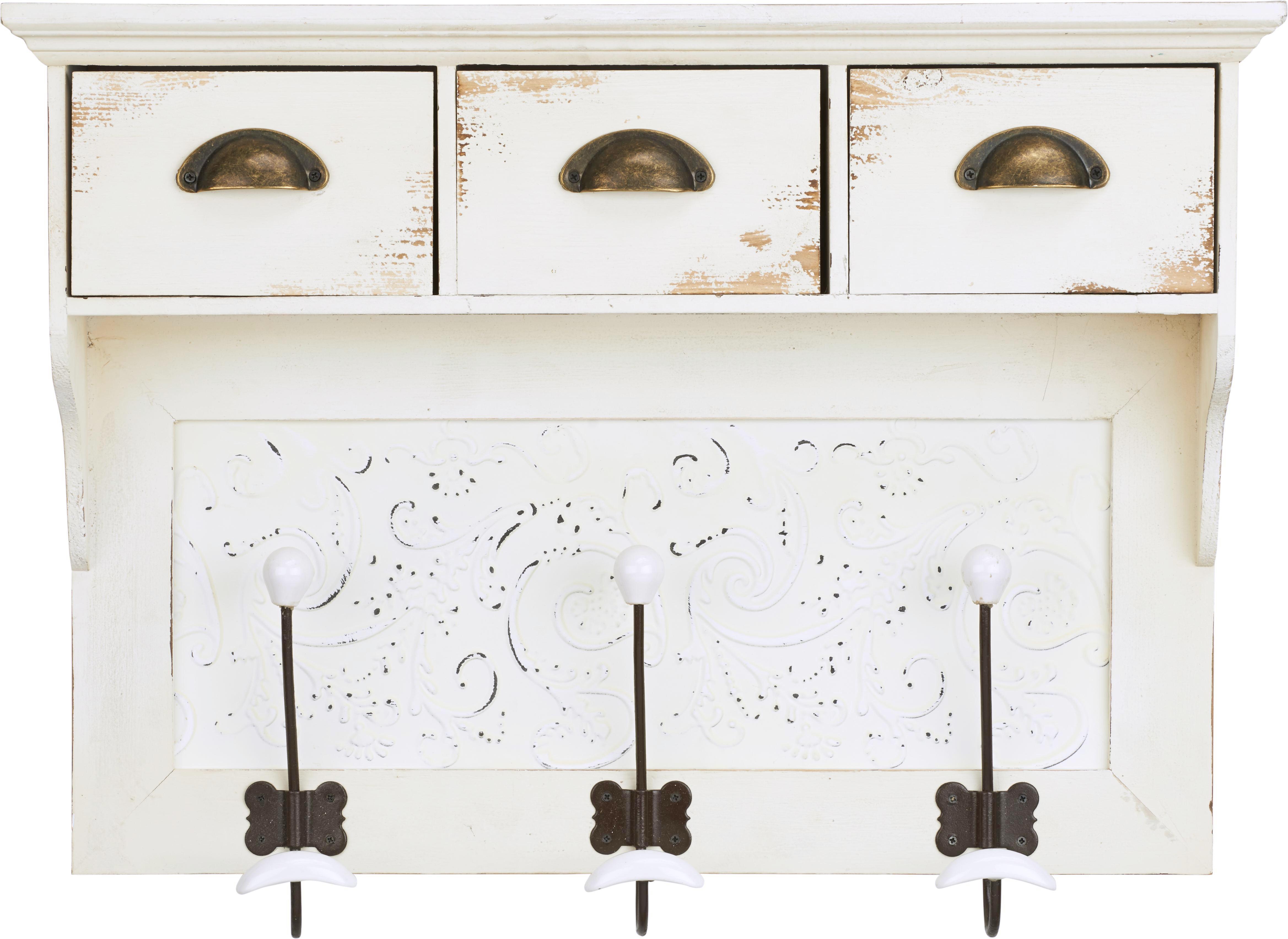 Hängeelement Ben - Bronzefarben/Weiß, Holz/Keramik (68/15,5/50cm) - PREMIUM LIVING