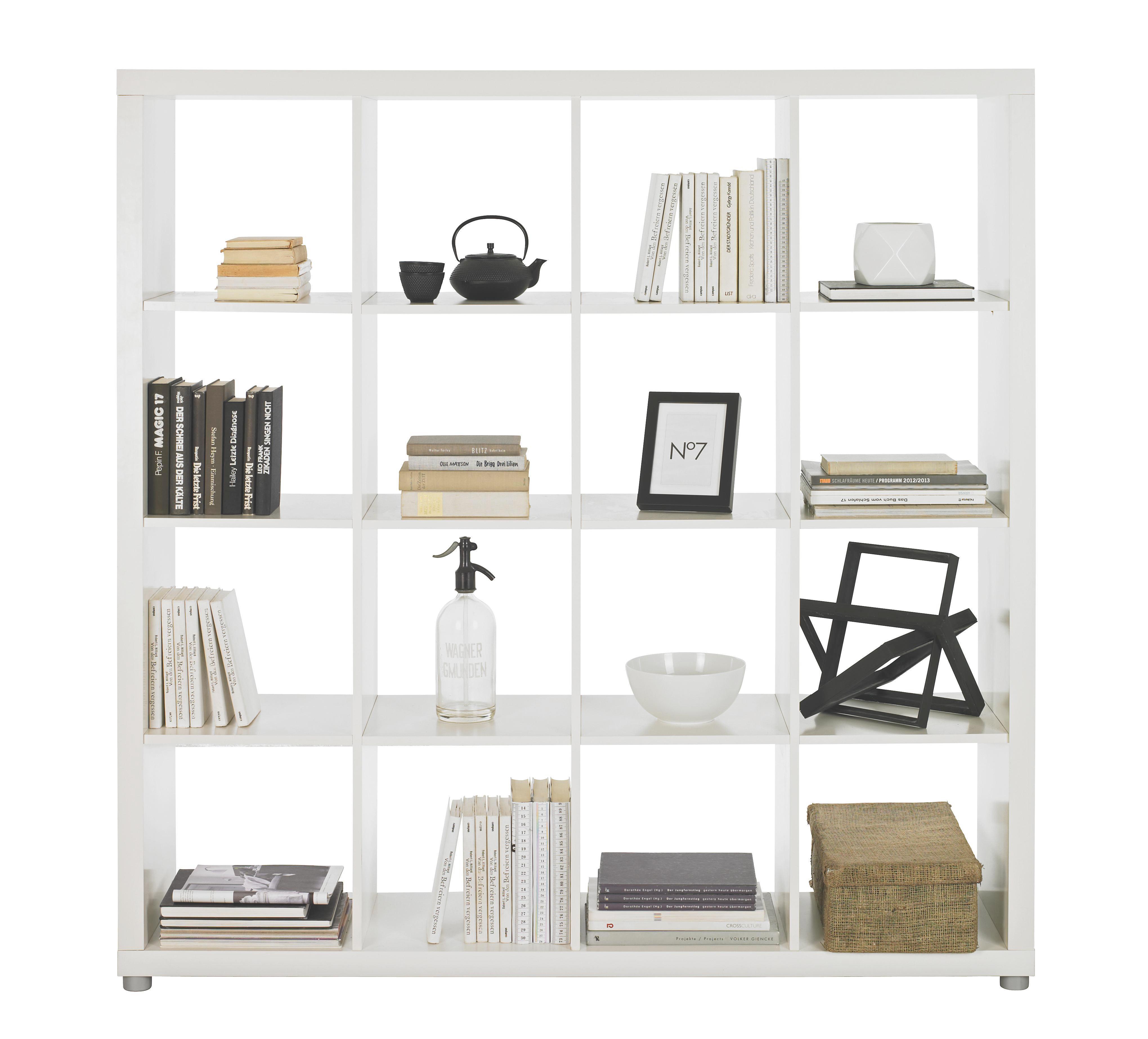 Raumteiler in Weiß lackiert - Alufarben/Weiß, Basics, Holzwerkstoff/Kunststoff (154/157/35cm)