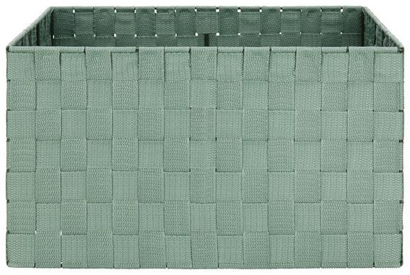 Korb Charlotte L Jadegrün - Jadegrün, Kunststoff/Metall (37,5/27,5/20,5cm) - Mömax modern living